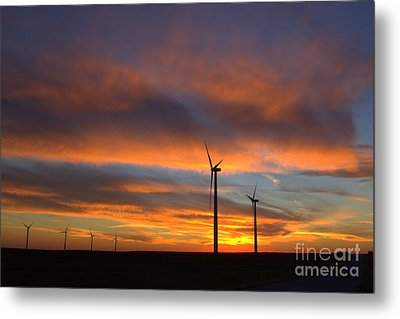 Metal Print featuring the photograph Western Oklahoma Skies 1 by Jim McCain