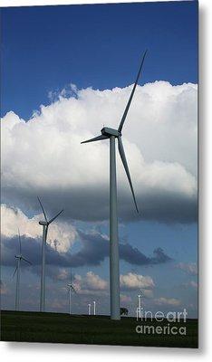 Metal Print featuring the photograph Western Oklahoma Wind Farm by Jim McCain