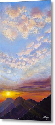 Metal Print featuring the painting Western Sunset by Margaret Bobb