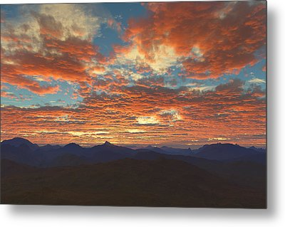 Metal Print featuring the digital art Western Sunset by Mark Greenberg