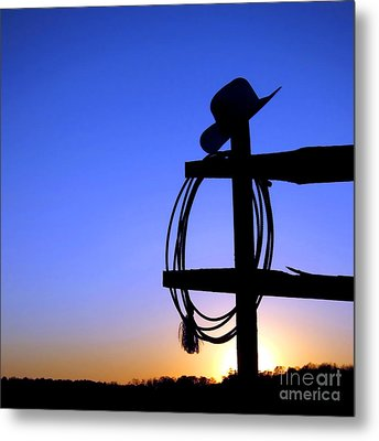 Western Sunset Metal Print by Olivier Le Queinec