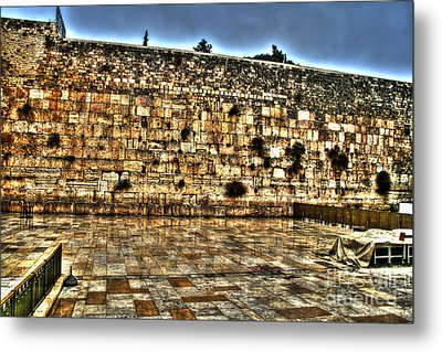 Metal Print featuring the photograph Western Wall In Israel by Doc Braham
