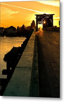 Westham Island Bridge Metal Print