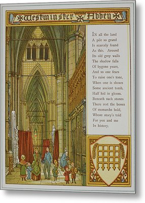 Westminster Abbey Metal Print by British Library