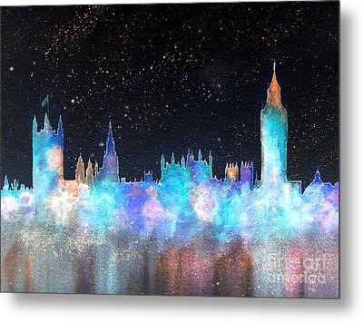 Westminster And Big Ben Cosmos Metal Print by Bill Holkham