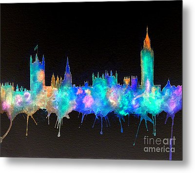 Westminster And Big Ben - Nighttime 1 Metal Print by Bill Holkham