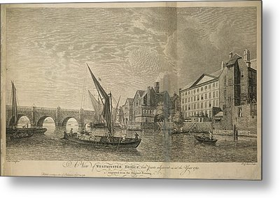 Westminster Bridge Metal Print by British Library