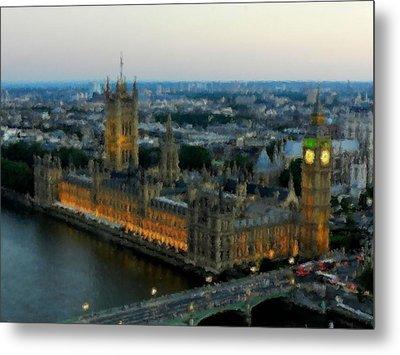 Westminster Palace Da 01 Metal Print