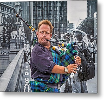 Westminster Piper Metal Print by Keith Armstrong