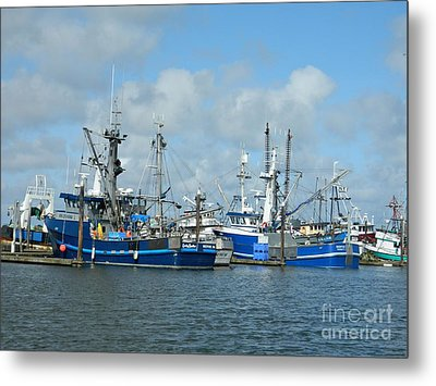 Westport Fishing Boats Metal Print