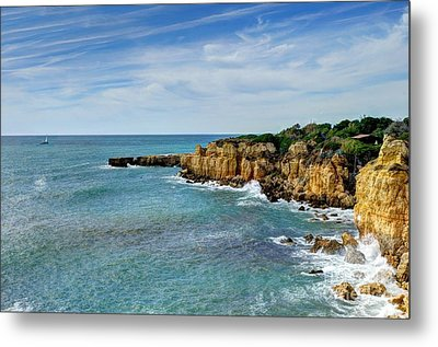 Westward Ho Sailing Around Castelo Points Algarve Portugal Metal Print by John Kelly