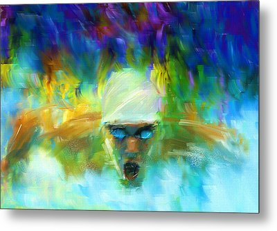 Wet And Wild Metal Print by Lourry Legarde