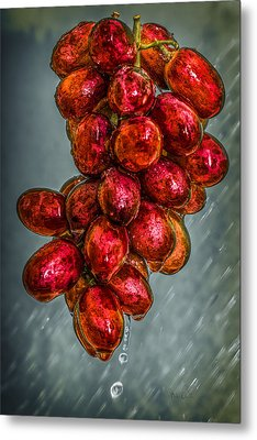Wet Grapes Four Metal Print