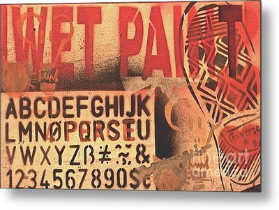 Wet Paint Metal Print by ElinorStudio