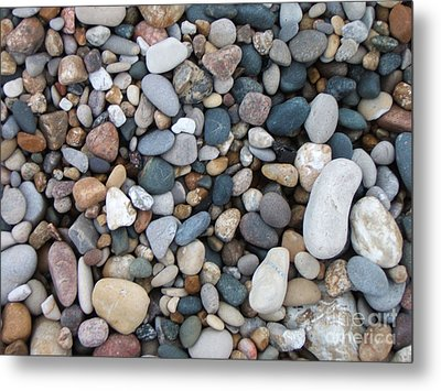 Wet Pebbles Metal Print by Margaret McDermott