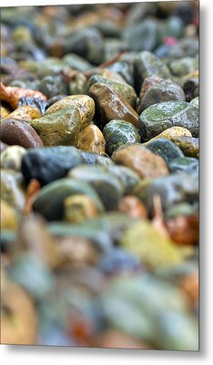 Wet River Rock Metal Print by Bob Noble Photography
