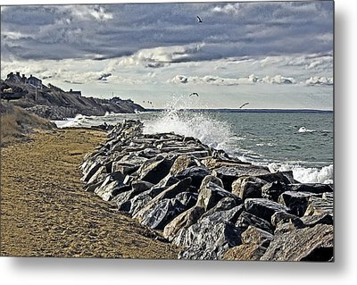 Wet Rock Walk  Metal Print by Constantine Gregory