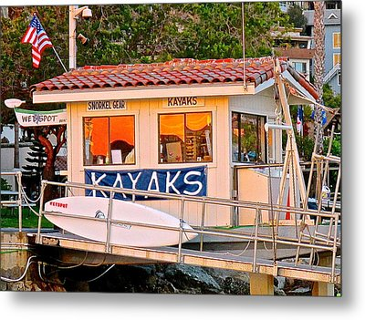 Wetspot Kayak Shack Metal Print by Jeff Gater