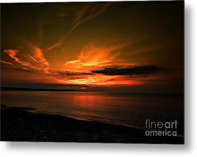 Metal Print featuring the photograph Weymouth  Golden Sunrise by Baggieoldboy