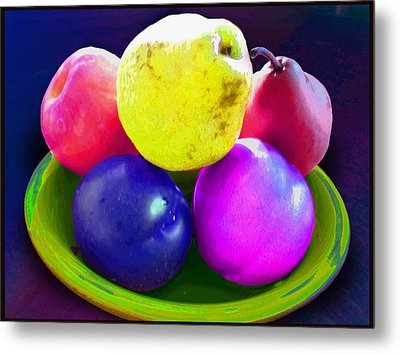 Whadda Pear Exclamation Point Metal Print by Ginny Schmidt