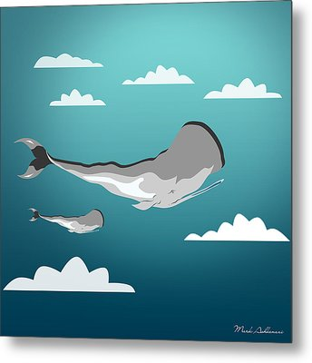 Whale 7 Metal Print