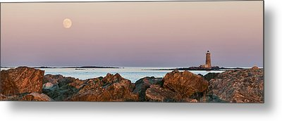 Whaleback Lighthouse Panorama Metal Print by Eric Gendron