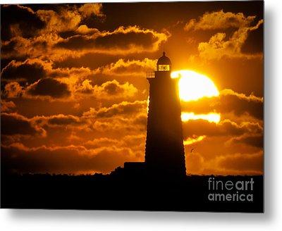 Whaleback Lighthouse Sunrise Metal Print by Scott Thorp