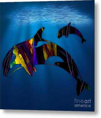Whales Metal Print by Marvin Blaine