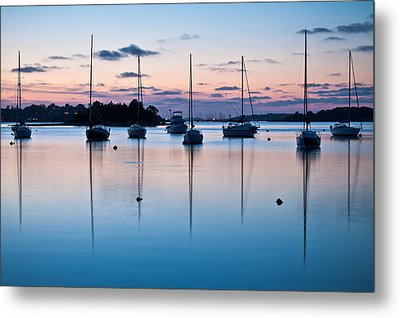 Wharf Blue Hour Metal Print by Lee Costa