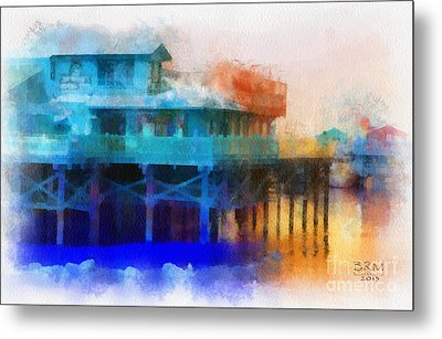 Wharf Color Metal Print