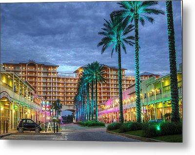 Metal Print featuring the digital art Wharf Turquoise Lighted  by Michael Thomas