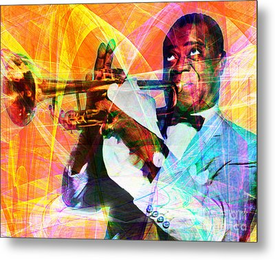 What A Wonderful World Louis Armstrong 20141218 Metal Print by Wingsdomain Art and Photography