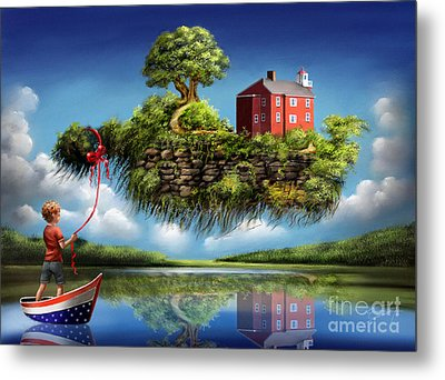Metal Print featuring the painting What A Wonderful World by S G