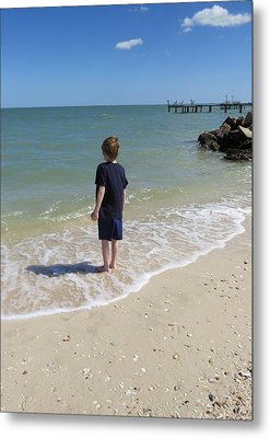 Metal Print featuring the photograph What Boys Are Made Of by Ella Kaye Dickey
