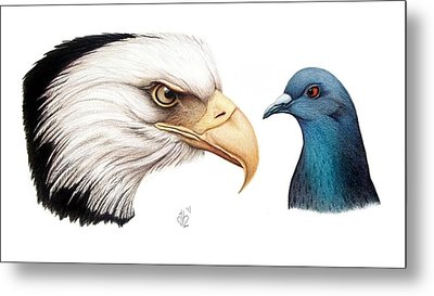 Metal Print featuring the drawing What by Danielle R T Haney
