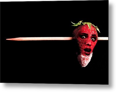 What Happens To Bad Strawberries Metal Print
