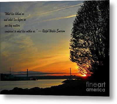 What Lies Within Metal Print by Crystal Loppie