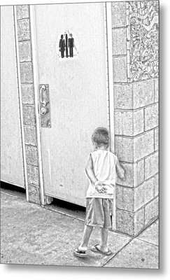 Hurry Up In There Metal Print