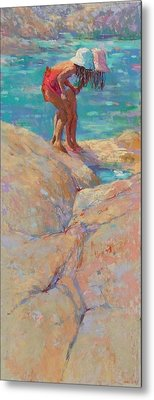 What's In The Rockpool? Metal Print by Jackie Simmonds