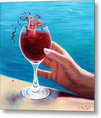 What's In Your Goblet? Metal Print by Sandi Whetzel