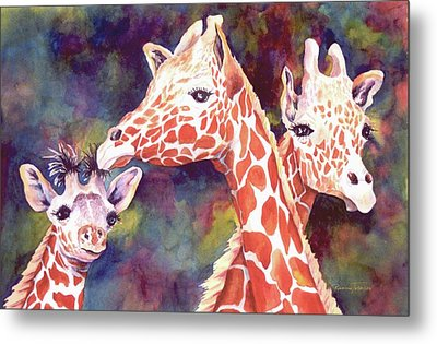 What's Up Dad - Giraffes Metal Print