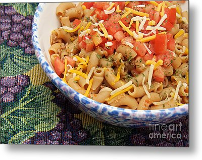 Wheat Pasta Goulash Metal Print by Andee Design