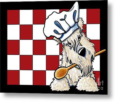 Wheaten Terrier Chef Metal Print