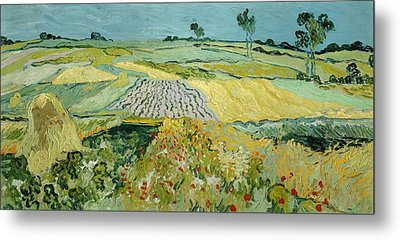 Wheatfields Near Auvers-sur-oise Metal Print