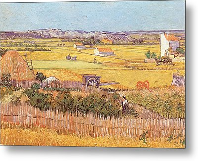 Wheatfields Metal Print by Vincent van Gogh