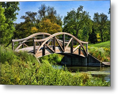 Wheaton Northside Park Bridge Metal Print