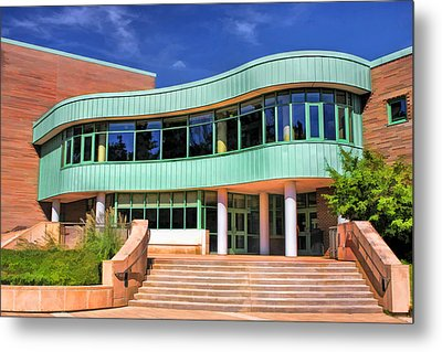 Wheaton Public Library Metal Print by Christopher Arndt