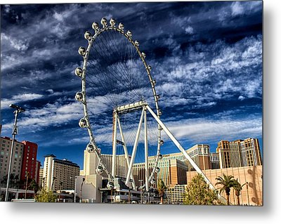 Metal Print featuring the photograph Wheel In The Sky Las Vegas by Michael Rogers