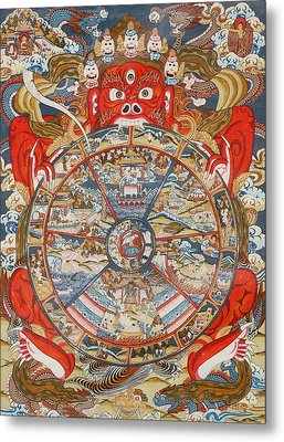 Wheel Of Life Or Wheel Of Samsara Metal Print by Unknown