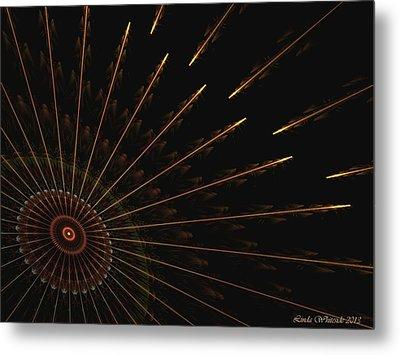 Metal Print featuring the digital art Wheel Of Time by Linda Whiteside